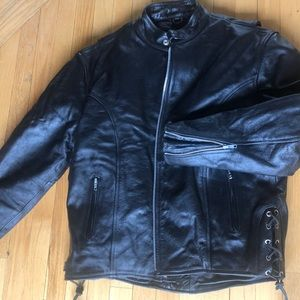 "Mens, 46"", leather riding jacket, Zipper lining"